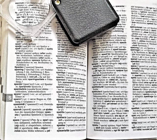 lupa na slovníku