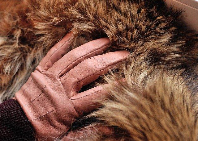 rukavice a kožíšek